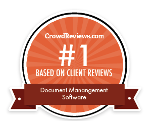 #1 Document Management Software based on client reviews award