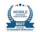 Best mobile document management software award