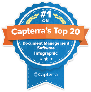 #1 on Capterra's Document Management Software