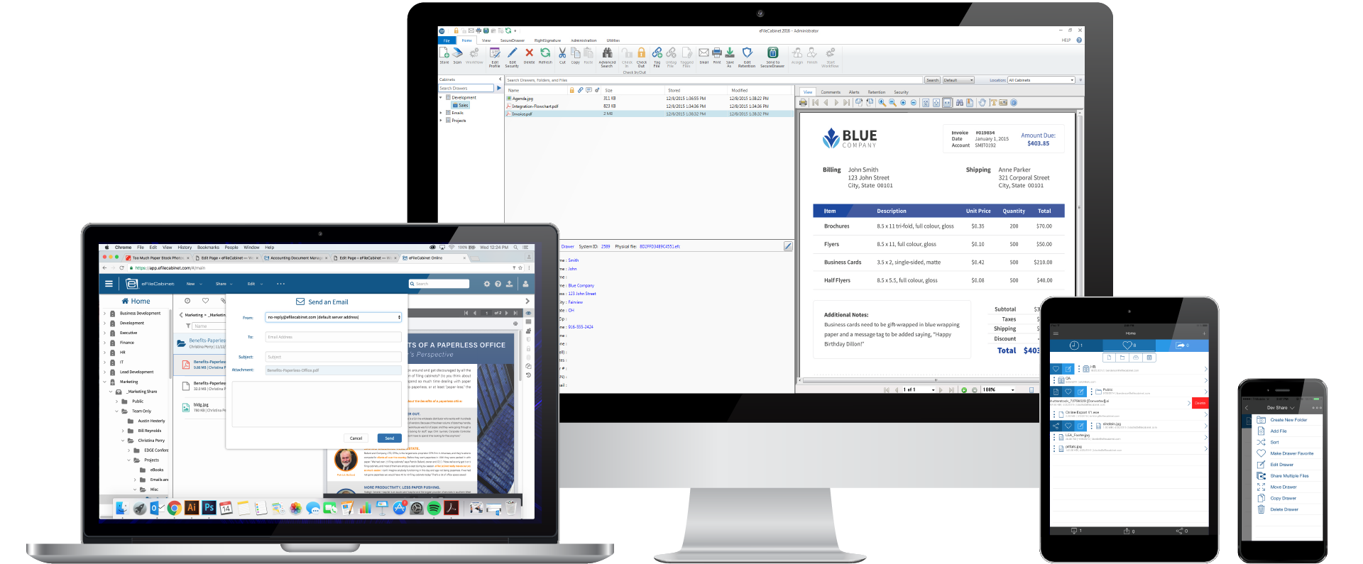 eFileCabinet Document Management Software Online is available on all devices